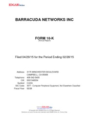 Barracuda Networks Inc