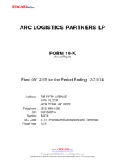 Arc Logistics Partners LP