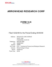 Arrowhead Research Corp.