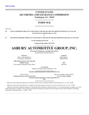 Asbury Automotive Group, Inc.