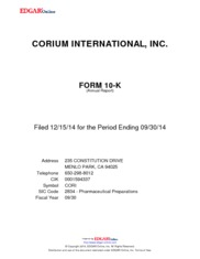 Corium International Inc