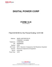 Digital Power Corp.