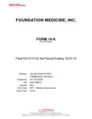 Foundation Medicine Inc
