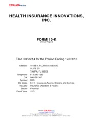 Health Insurance Innovations