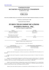 Fusion Telecommunications International Inc.