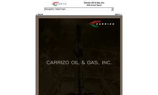 Carrizo Oil & Gas Inc.