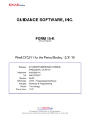 Guidance Software, Inc.