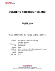 Builder FirstSource Inc.