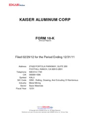 Kaiser Aluminum Corporation