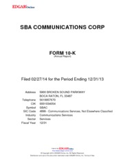 SBA Communications Corp.