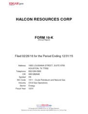 Halcon Resources Corporation