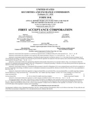 First Acceptance Corp