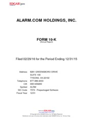 Alarm.com Holdings, Inc.