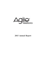 Agile Therapeutics Inc