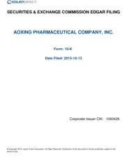 Aoxing Pharmaceutical