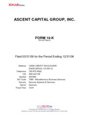 Ascent Capital Group Inc