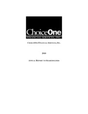 ChoiceOne Financial Services, Inc.