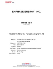 Enphase Energy Inc