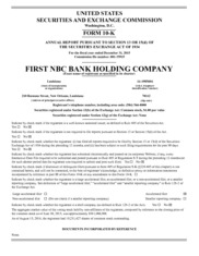 First NBC Bank Holding Company
