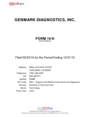 GenMark Diagnostics, Inc.