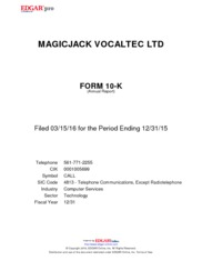 magicJack VocalTec Ltd.