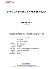 Mid-Con Energy Partners LP