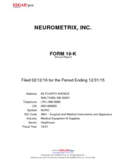 NeuroMetrix Inc.