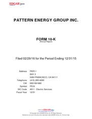 Pattern Energy Group Inc