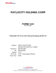 Paylocity Holding Corp