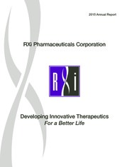 RXi Pharmaceuticals Corporation
