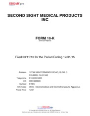 Second Sight Medical