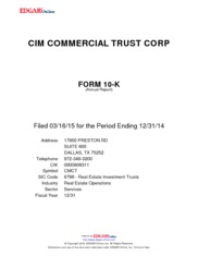 CIM Commercial Trust Corporation