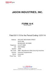 Jason Industries, Inc.