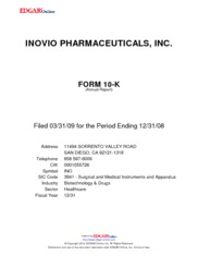 Inovio Pharmaceuticals, Inc.