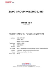 Zayo Group Holdings