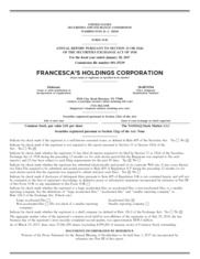 Francesca's Holdings Corp
