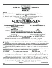 U S Physical Therapy Inc Annualreports Com