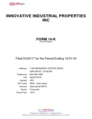 Innovative Industrial Properties Inc