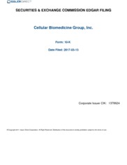 Cellular Biomedicine Group Inc
