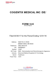 Cogentix Medical
