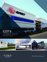 Cole Office & Industrial REIT (CCIT II), Inc.