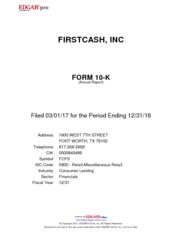 First Cash Financial Services Inc.