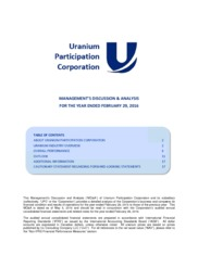 Uranium Participation Corp.