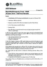 BlackWall Property Trust