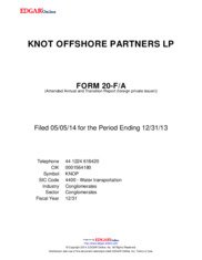 KNOT Offshore Partners LP