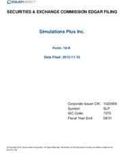 Simulations Plus, Inc.
