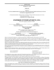 Inspired Entertainment, Inc.