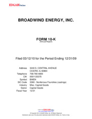 Broadwind Energy, Inc.