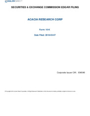 Acacia Research Corporation