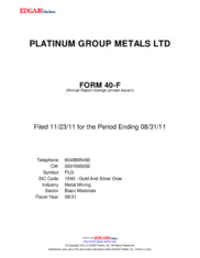 Platinum Group Metals Ltd.
